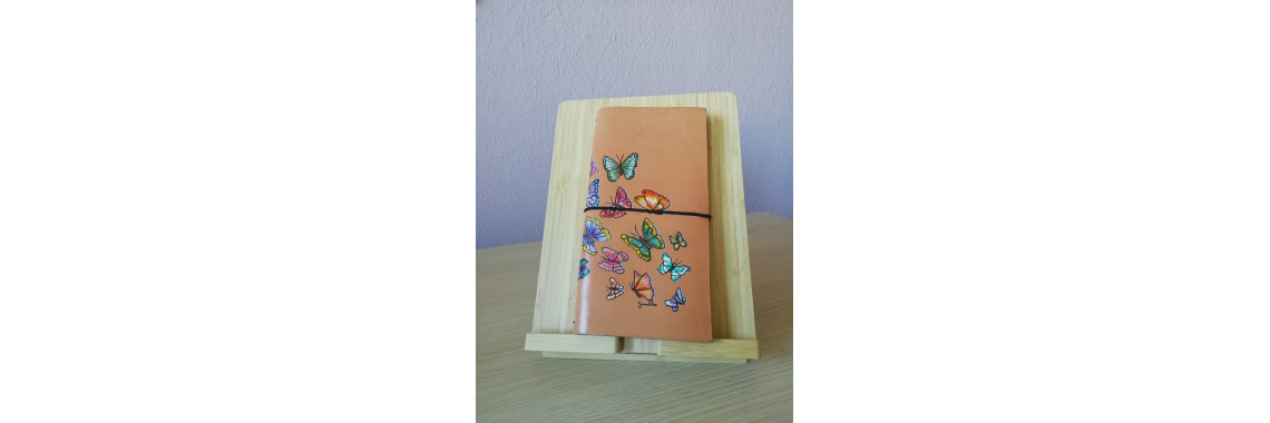 Travelnotebook met vlinders